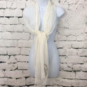 Michael Kors white light weight scarf